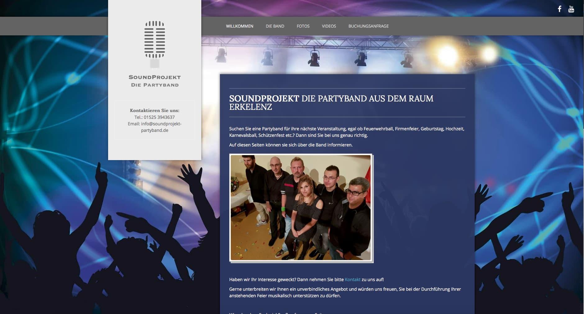 Soundprojekt-partyband.de